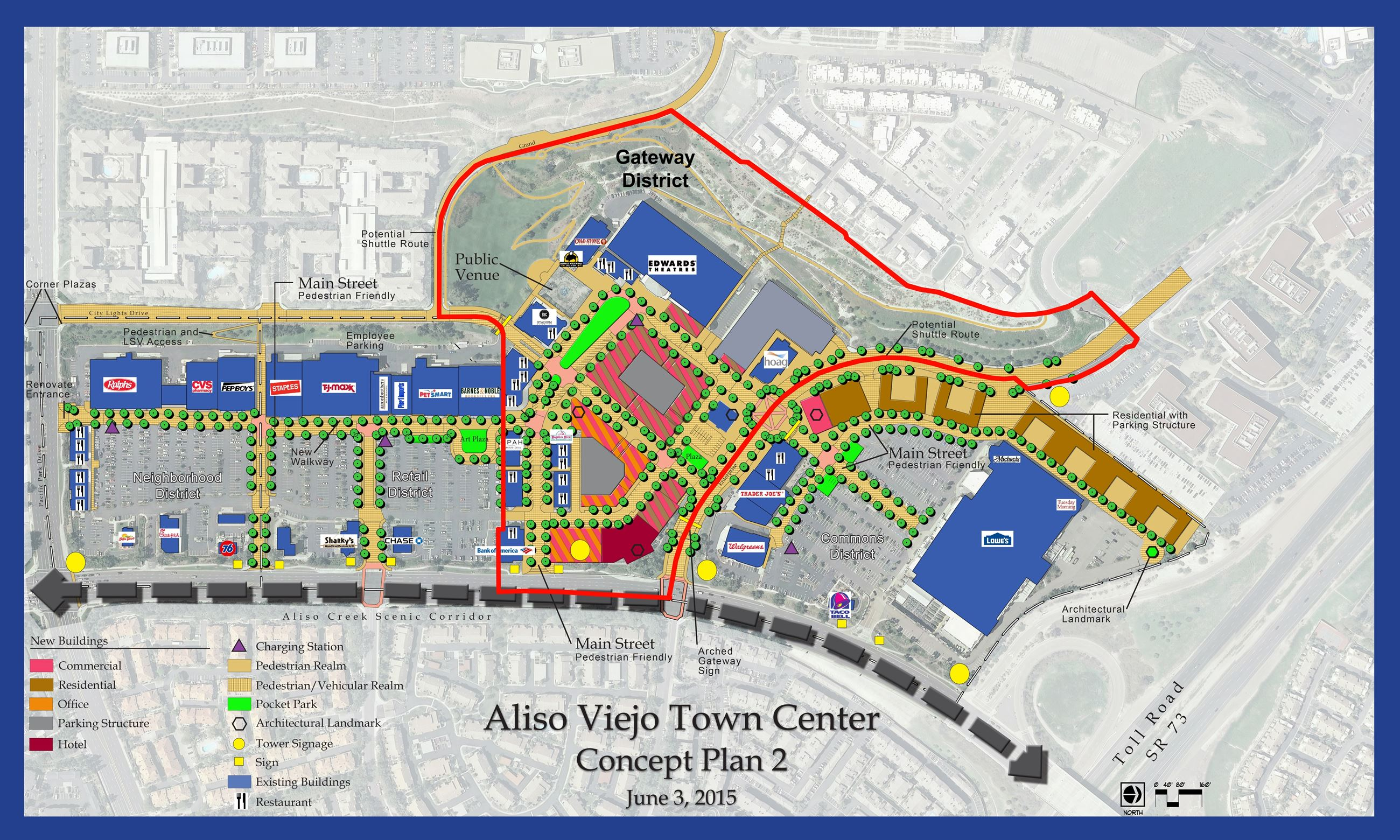 Aliso Viejo Town Center Concept Plan 2